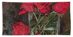 Christmas Roses Bath Towel
