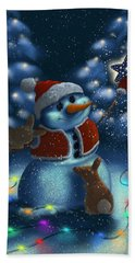 Hand Towel featuring the painting Christmas Season by Veronica Minozzi