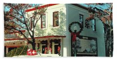 Christmas Shopping In Georgetown, Texas  Hand Towel by Janette Boyd
