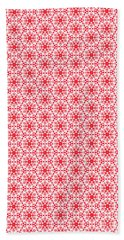 Christmas Snow Flakes Pattern 2 Bath Towel