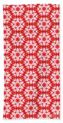 Christmas Snow Flakes Pattern Hand Towel
