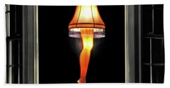 Hand Towel featuring the photograph Christmas Story Leg Lamp by Jennie Breeze