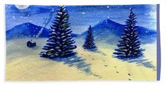 Bath Towel featuring the painting Christmas Time by Stacy C Bottoms
