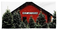 Christmas Town Hand Towel by Dale R Carlson