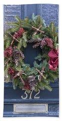 Christmas Wreath Hand Towel