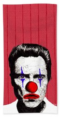 Hand Towel featuring the drawing Christopher Walken 2 by Jason Tricktop Matthews