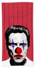 Bath Towel featuring the drawing Christopher Walken 2 by Jason Tricktop Matthews