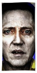 Christopher Walken Portrait  Bath Towel