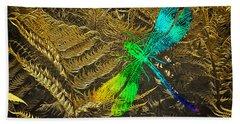 Chromatic Dragonfly Bath Towel by Richard Farrington