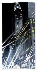 Chrysler Building At Night Hand Towel