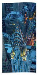 Chrysler Building Hand Towel by Inge Johnsson