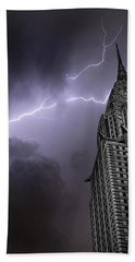 Chrysler Building Hand Towel by Martin Newman