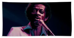 Chuck Berry Hand Towel by Paul Meijering
