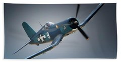Chuck Wentworths F4u Corsair No.8 Bath Towel