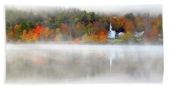 Church Across The Lake Hand Towel
