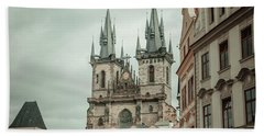 Bath Towel featuring the photograph Church Of Our Lady Before Tyn by Jenny Rainbow