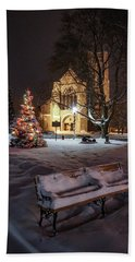 Church Of St Mary St Paul At Christmas Hand Towel