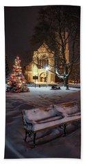 Church Of St Mary St Paul At Christmas Bath Towel