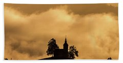 Hand Towel featuring the photograph Church Of St. Thomas #2 - Slovenia by Stuart Litoff