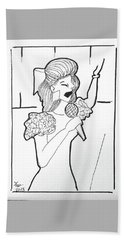 Church Singer Bath Towel