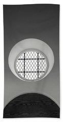 Church Window In Black And White Hand Towel