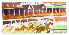Churchill Downs Watercolor Bath Towel