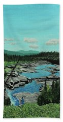 Churchill River Bath Towel
