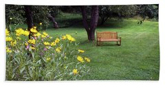 Churchyard Bench - Woodstock, Vermont Bath Towel