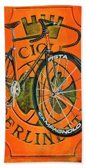 Hand Towel featuring the painting Cicli Berlinetta by Mark Howard Jones