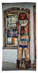 Hand Towel featuring the photograph Cigar Store Indian by Paul Ward