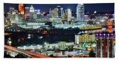 Cincinnati And Covington Collide Hand Towel