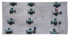 Cincinnati - Fountain Square Bath Towel by Frank Romeo