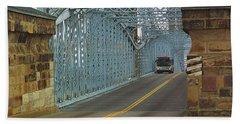 Cincinnati - Roebling Bridge 1 Bath Towel by Frank Romeo