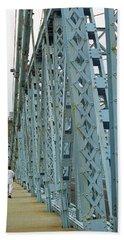 Cincinnati - Roebling Bridge 3 Bath Towel by Frank Romeo
