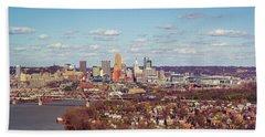 Cincinnati Skyline 2 Bath Towel by Scott Meyer