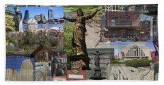 Cincinnati's Favorite Landmarks Hand Towel by Robert Glover