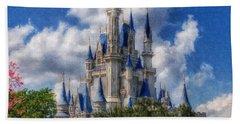 Cinderella Castle Summer Day Hand Towel