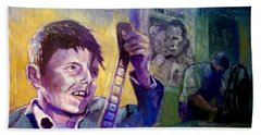 Hand Towel featuring the painting Cinema Paradiso by Paul Weerasekera