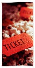 Cinema Ticket On Snackbar Food Hand Towel
