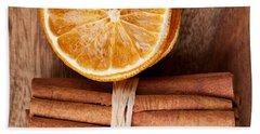 Cinnamon And Orange Bath Towel