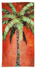 Cinnamon Palm Bath Towel by Kristen Abrahamson
