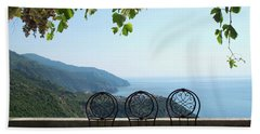Cinque Terre View Hand Towel by Loriannah Hespe