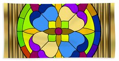 Circle On Bars 3 Hand Towel by Chuck Staley
