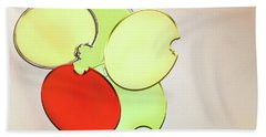 Circles Of Red, Yellow And Green Hand Towel