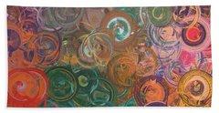 Hand Towel featuring the digital art Circles  by Riana Van Staden