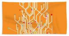 Circuit Board Graphic Bath Towel