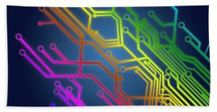Circuit Board Bath Towel