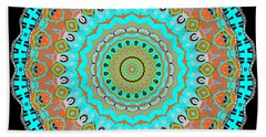 Bath Towel featuring the digital art Circular Garden by Joy McKenzie