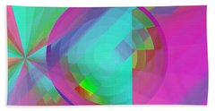 Bath Towel featuring the digital art Circus Multiforms Bright by Joy McKenzie