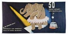 Circus Poster, 1942 Bath Towel